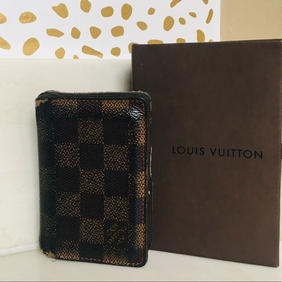 0131fb3a8333 ... damier zippy  louis vuitton bags damier ebene pocket organizer wallet  poshmark ...